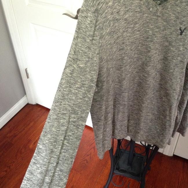 American Eagle Outfitters Button Down Shirt Heathered Gray and Blue Image 9