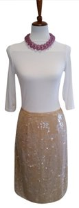 Clifford & Wills Sequin Skirt Nude