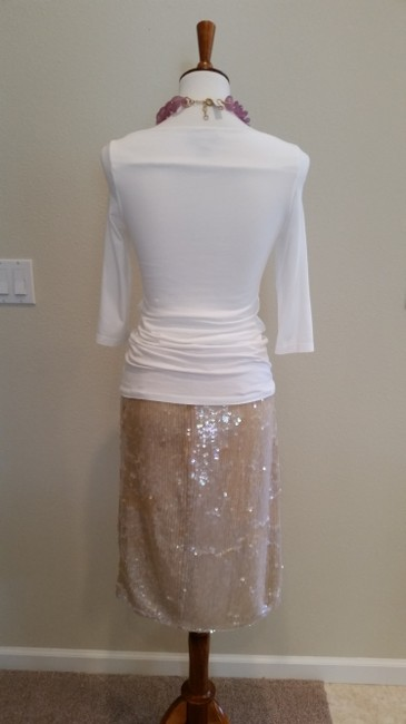 Clifford & Wills Sequin Skirt Nude Image 1