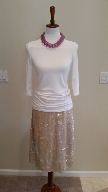 Clifford & Wills Sequin Skirt Nude Image 2