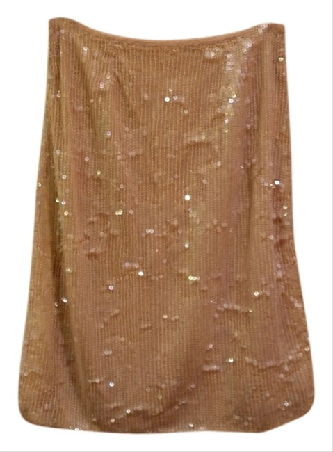Clifford & Wills Sequin Skirt Nude Image 4