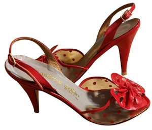 Andrew Geller red Sandals