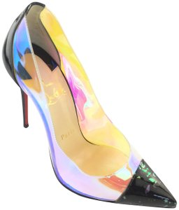 Christian Louboutin Pvc Patent Leather Pointed Toe Version Multi Pumps