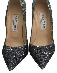 Jimmy Choo Navy / Silver Pumps