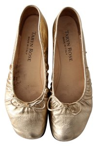 Taryn Rose Ballet Metallic Leather Gold Flats