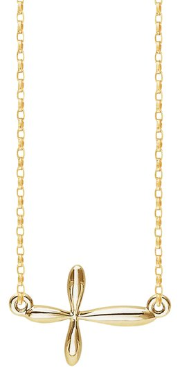 Preload https://img-static.tradesy.com/item/21980615/yellow-sideways-religious-cross-pendant-14k-gold-vermail-with-chain-necklace-0-1-540-540.jpg