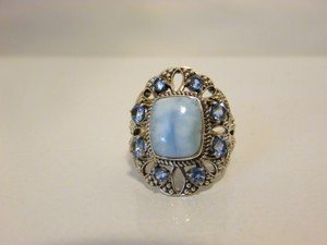 Nicky Butler Nicky Butler 2ct Larimar Sky Blue .925 Cushion Ring 9
