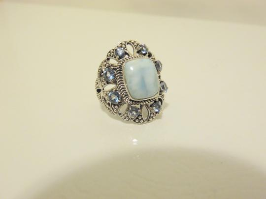 Nicky Butler Nicky Butler 2ct Larimar Sky Blue .925 Cushion Ring 9 Image 2
