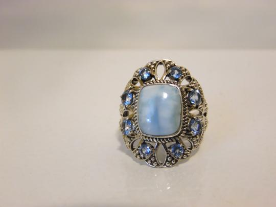 Nicky Butler Nicky Butler 2ct Larimar Sky Blue .925 Cushion Ring 9 Image 7