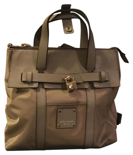 Item - Mini Jetsetterbackpack Beige/Taupe Nylon with Saffiano Leather Trim Backpack