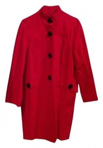 Anne Klein All Weather With Black Buttons Stand U Trench Coat