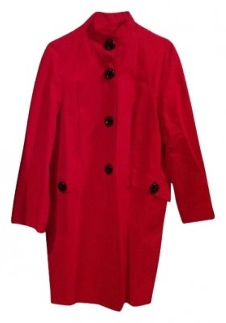 Preload https://item2.tradesy.com/images/anne-klein-red-all-weather-with-black-buttons-stand-u-trench-coat-size-petite-14-l-21981-0-0.jpg?width=400&height=650