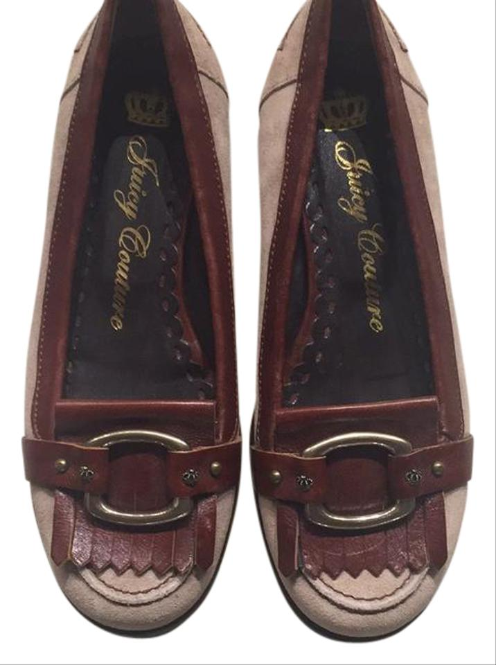 Juicy Suede Couture Brown Leather and Suede Juicy 128 Flats 887fb8