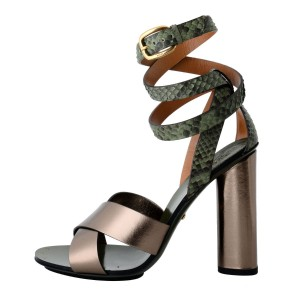 Gucci Leather Python Sasso / Military Sandals