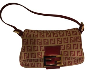 Fendi Satchel in Red F on Creme-colored Bag