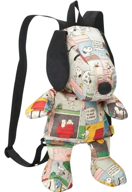 Item - Patchwork Snoopy Multi-color Nylon Backpack