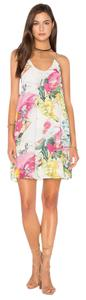 Bishop + Young short dress Multi White Floral Print Pleated Fully Lined Tropical on Tradesy