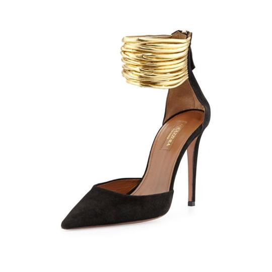Preload https://img-static.tradesy.com/item/21982310/aquazzura-black-suede-hello-lover-gold-cord-ankle-strap-pumps-size-us-75-regular-m-b-0-0-540-540.jpg