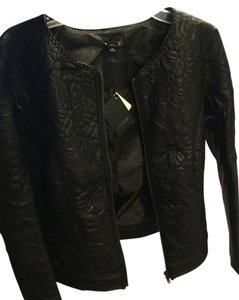 Sisters knit Leather Jacket
