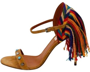 Valentino brown blue red green yellow multi Sandals