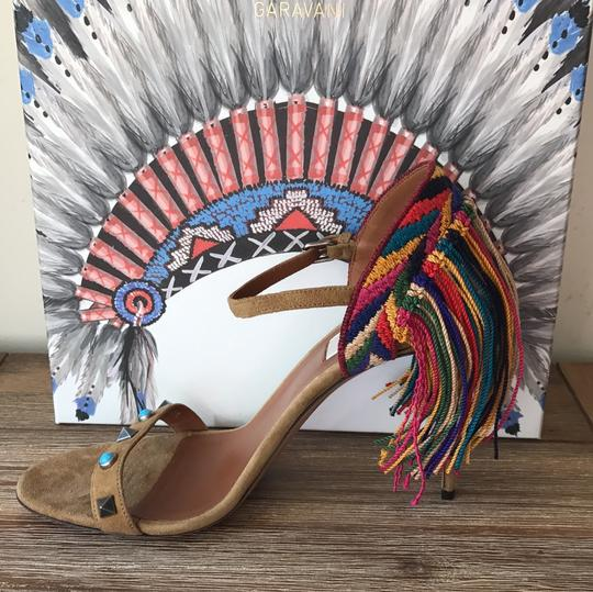 Valentino brown blue red green yellow multi Sandals Image 10