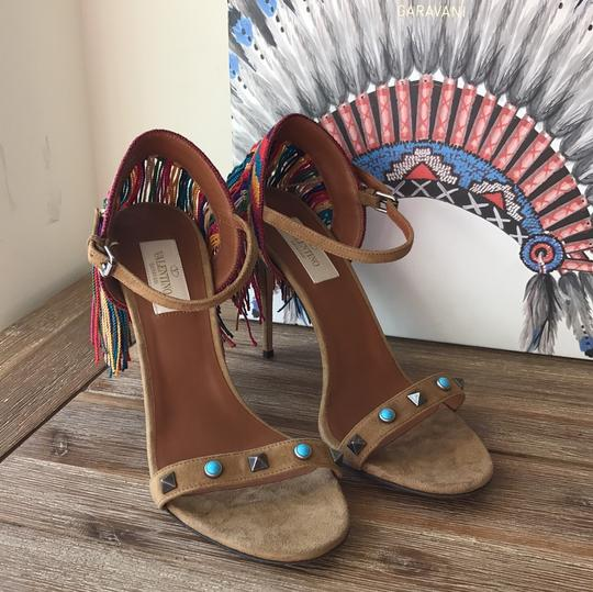 Valentino brown blue red green yellow multi Sandals Image 2
