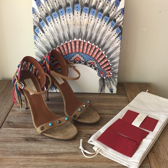 Valentino brown blue red green yellow multi Sandals Image 3