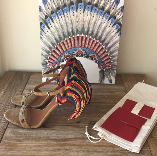 Valentino brown blue red green yellow multi Sandals Image 4