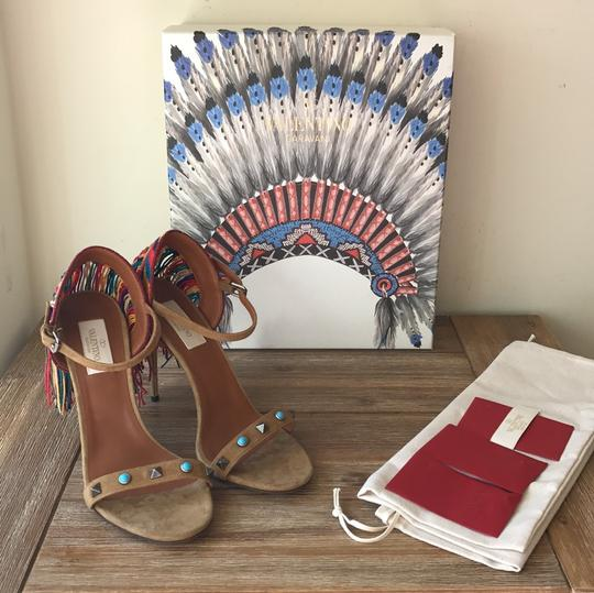 Valentino brown blue red green yellow multi Sandals Image 7