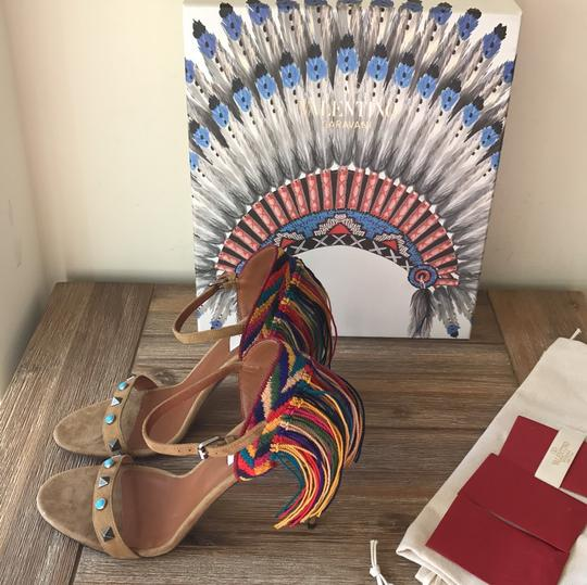 Valentino brown blue red green yellow multi Sandals Image 8