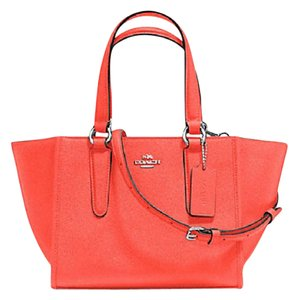 Coach Crossbody Detachable Cross-body 33848 Satchel in bright orange