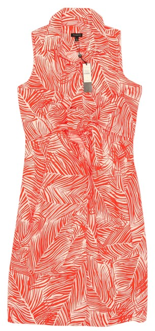 Item - Red New-tagged Sleeveless Wide Waist Bow Sash Short Work/Office Dress Size 4 (S)