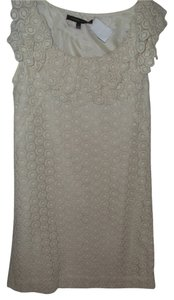 Cynthia Steffe Neutral Minimal Flirty Sculptured Tunic Dress