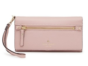 Kate Spade Cobble Hill Rae Wristlet Wallet Leather 098689986036 New York Pink Granite Clutch