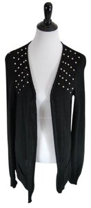 Love by Design Studded Pockets Cotton Edgy Details Cardigan