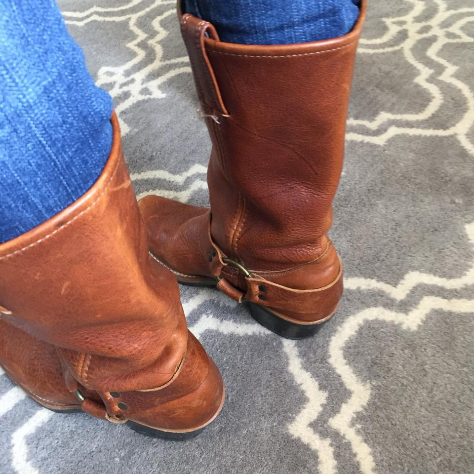 Frye Frye Booties Brown Boots Harness Brown Harness Boots Booties RwqvxCcT