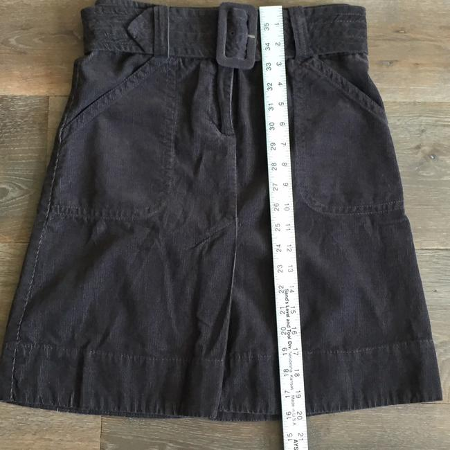 H&M Corduroy Charcoal Belted A-line Skirt grey