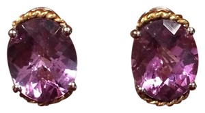 Macy's Sterling Silver & 14K Amethyst Earrings