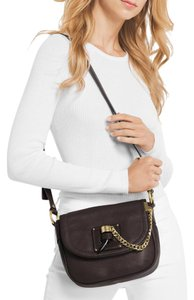 f000b10d7e75 Michael Kors Leather Saddlebag James Medium 30f6ajym2l 190049678992 Cross  Body Bag