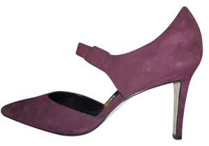 Manolo Blahnik Suede Burgundy Pumps