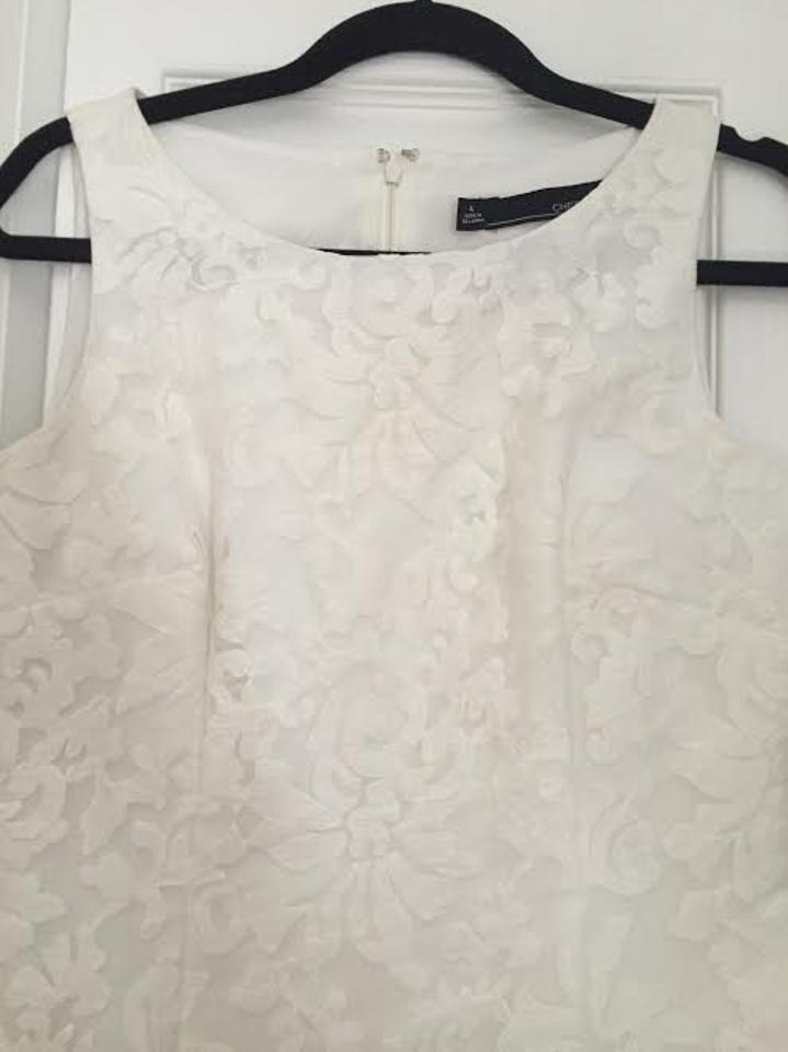 off white bridal shower casual wedding dress size 4 s