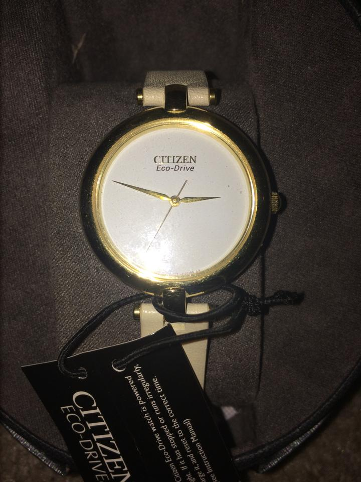 Citizen White Face Gold Trim New Womens Watch Tradesy