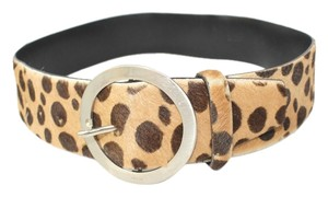 Prada PRADA CALF HAIR ANIMAL PRINT LEATHER BELT