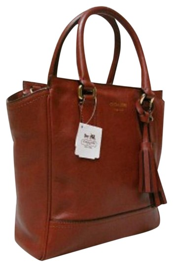 coach cognac glove tan leather ns shoulder tote tradesy. Black Bedroom Furniture Sets. Home Design Ideas