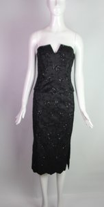 Richard Tyler Couture sequin embellished corset and midi skirt suit