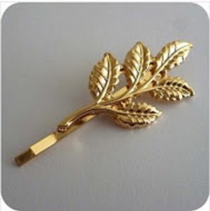 Two Olive Leaf Hair Pin