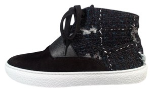 Chanel Fashion Sneakers Black Blue Athletic