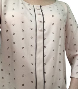 Lauren Conrad Top Pink With Black Circles