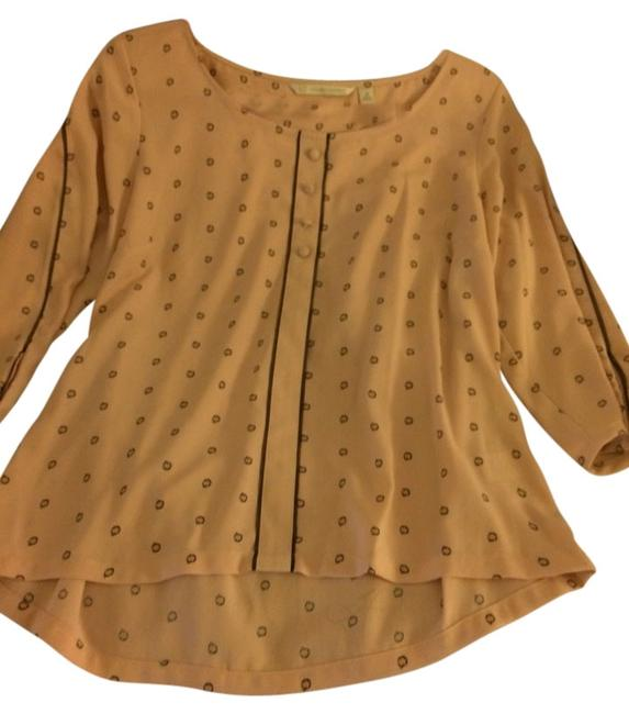 LC Lauren Conrad Top Pink With Black Circles