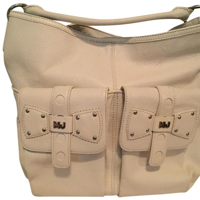 Item - With Two Exterior Pocket and One Interior Pocket Ice White Leather Hobo Bag